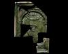 Fragment einer Blattkachel mit dem Halbbild des Kurfürsten Ludwig V. zu Rhein (1508-1544), grün glasiert, Anfang 16. Jh., Heidelberg, Kurpfälzisches Museum, urspr. Heidelberg, Kornmarkt
