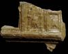 Fragment einer Kranzkachel vom Typ Tannenberg mit Zinnenkranz mit Glockenblumen, gelb glasiert, Dieburg, ca. 1380, Heidelberg, Kurpfälzisches Museum, urspr. Heidelberg, Kornmarkt