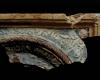 Fragment einer Blattkachel mit einem Schiff, polychrom glasiert, erste Hälfte 17. Jh., Heidelberg, Kurpfälzisches Museum, urspr. Heidelberg, Kornmarkt