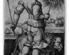 Serie der Sieben Planeten: Sol (4), Kupferstich von Hans Sebald Beham, Nürnberg, 1539