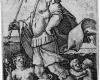 Serie der Sieben Planeten: Merkur (6), Kupferstich von Hans Sebald Beham, Nürnberg, 1539