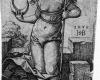 Serie der Sieben Planeten: Luna (7), Kupferstich von Hans Sebald Beham, Nürnberg, 1539