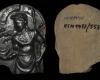 Fragment des Innenfelds einer Blattkachel mit Luna aus der Serie der Planeten nach Beham, dunkelbraun glasiert, Köln (?), 2. Hälfte 16. Jh., H. 12,9 cm, Br. 9,8 cm, Köln, Kölnisches Stadtmuseum