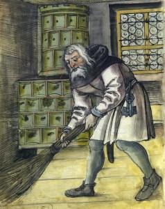 Der Hausdiener Pauly Mauser Hausbücher der Nürnberger Zwölfbrüderstiftung, Nürnberg, 1513, Nürnberg, Stadtbibliothek