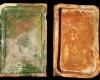Fragment einer hochrechteckigen Blattkachel mit glattem, nischenförmig einziehendem Bildfeld, grün glasiert, Ende 15.. Jh., H. 27,4 cm, Br. 18,2 cm, Speyer, Historisches Museum der Pfalz, urspr. Busenberg, Burg Drachenfels