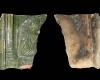 Fragment einer Blattkachel mit dem Halbbild von Kaiser Ferdinand I., eingestellt in eine Arkade, grün glasiert, 2. Hälfte 16. Jh., H. 13,2 cm, Br. 12,7 cm, Speyer, Historisches Museum der Pfalz