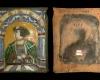 Fragment einer Blattkachel mit dem Halbbild von Kaiser Ferdinand I., polychrom glasiert, 2. Hälfte 16. Jh., H. 29,4 cm, Br. 24,6 cm, Nürnberg, Germanisches Nationalmuseum