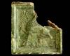 Fragment einer Blattkachel mit Greif, grün glasiert, Oberrhein, 2. Hälfte 15. Jh., Breisach, Museum