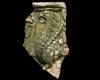 Fragment einer Blattkachel mit Greif, grün glasiert, Oberrhein, 2. Hälfte 15. Jh., Ettlingen, Albgaumuseum
