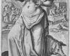 Folge der sieben Todsünden: Die Völlerei (2) Kupferstich von Crispin de Passe d. Ä. nach Zeichnungen von Maarten de Vos, vor 1600