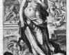 Folge der sieben Todsünden: Die Verschwendungssucht (3) Kupferstich von Crispin de Passe d. Ä. nach Zeichnungen von Maarten de Vos, vor 1600