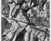 Folge der sieben Todsünden: Der Zorn (4) Kupferstich von Crispin de Passe d. Ä. nach Zeichnungen von Maarten de Vos, vor 1600