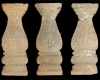 Fragment eines Ofenfußes in Gestalt eines Balusters mit Beschlagwerk, Medaillon mit Löwen mit Ring im Maul, graphitiert, Anfang 17. Jh., H. 39,2 cm; Br. 11,0 cm, Bad Kreuznach, Museum im Rittergut Bangert