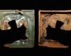 Fragment einer Blattkachel mit dem englischen Gruß mehrfarbig glasiert, Anfang 16. Jahrhundert, H. 21,8 cm, Br. 22,0 cm Volkach, Provatbesitz, urspr. Volkach, Rathaus