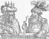 Serie der alttestamentarischen Tyrannen mit dem Halbbild des Adonibesek Holzschnitt von Erhard Schoen, um 1531