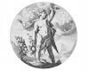 Serie der Jahreszeiten: Die Allegorie des Herbstes, Kupferstich von Jacob Matham, um 1600