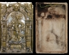 Fragment einer Blattkachel mit dem Frühling aus der Serie der Jahreszeiten nach Matham, grün glasiert, Ende 19. Jh., H. 37,5 cm, Br. 24,7 cm, Aschaffenburg, Privatbesitz, urspr. Burg Breuberg