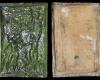 Fragment einer Blattkachel mit dem Sündenfall, grün glasiert, Anfang 17. Jh., H. 43,7 cm, Br. 29,1 cm, Worms, Museum der Stadt Worms