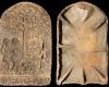 Fragment des Models des Innenfelds einer Blattkachel mit dem Sündenfall, unglasiert, Ende 17. Jh., H. 41,5 cm, Br. 26,4 cm, Heidelberg, Kurpfälzisches Museum