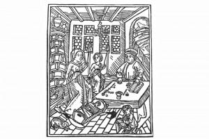 Gut Nuczlich Lere und Underweysung Holzschnitt von Johann Bämler, Augsburg 1488 (Franz 1981, S. 22, Fig. 9)