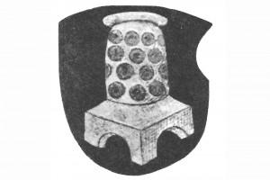 Wappen des Doktor August Lutenwang. Zeichnung, um 1510 (Franz 1981, S. 20, Fig. 6)