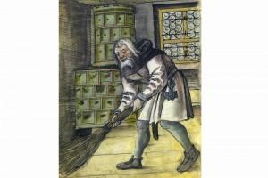 Der Hausdiener Pauly Mauser. Hausbücher der Nürnberger Zwölfbrüderstiftung, Nürnberg, 1513, Nürnberg, Stadtbibliothek