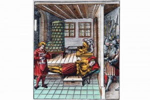 Theuredank, Kapitel 738. Holzschnitt von Leonhard Beck , 1517 (Henkel 1999, S. 21, Abb. A 56)