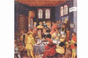 Monatsbild: Der Januar. Ölgemälde nach Jörg Breu d. Ä., um 1530, Berlin, Deutsches Historisches Museum (Roth Heege 2012, S. 161, Abb. 269)