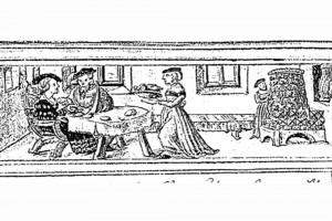 """""""Geheim Ehrenbuch des Fuggerschen Geschlechts"""": Der Januar. Miniatur von Jörg Breu d. J. (?), 1545"""