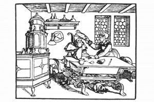 Der Ehebruch. Holzschnitt von Peter Flötner, um 1550 (Franz 1981, S. 95, Fig. 31)