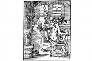 Der Bader. Holzschnitt aus dem Zunftbüchlein von Jost Amman, 1568