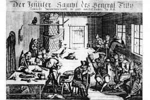 Flugblatt gegen die Machenschaften des Generals Tilly. Kupferstich, um 1640
