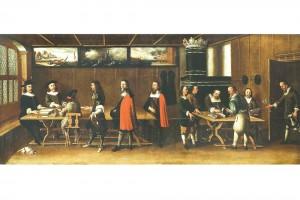 Vennerkammer im Kaufhaus zu Bern. Ölgemälde von Albrecht Kauw, 1671 (Roth Heege 2012, S. 163, Abb. 271)