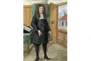 Hausbuch der Mendelschen Zwölfbrüderstiftung: Johann Reinhold Mühl. Kolorierte Zeichnung, Nürnberg, 1681
