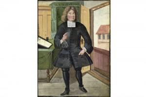 Hausbuch der Mendelschen Zwölfbrüderstiftung: Michael Rößel. Kolorierte Zeichnung, Nürnberg, 1713