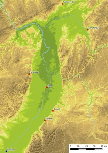 Verbreitung der Blattkacheln mit der Serie der Jahreszeiten nach Matham, Karte: Jürgen Jung, Spessart-GIS