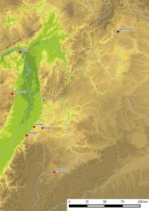 Verbreitung der Eckkacheln mit dem Sündenfall. Karte: Jürgen Jung, Spessart-GIS
