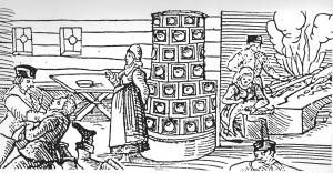 Moritat in Illdorf. Holzschnitt von Caspar Krebs, 1595 (Bedal 1997, S. 46)