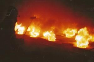 Flammentwicklung beim Steinzeugbrand. Foto: Arthur Müller, IKK, Höhr-Grenzhausen