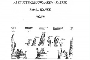 Abb. 2: Auszug aus dem Firmenkatalog von Reinhold Hanke, Höhr, Ende 19. Jh.